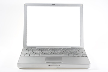 silver mac laptop
