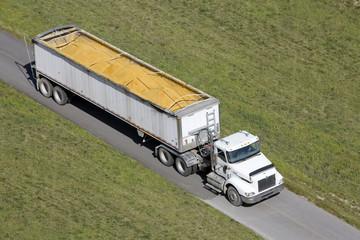 Truck Hauling Corn