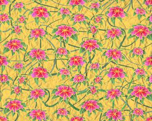 Carta floreale spiegazzata- Crumple floral paper