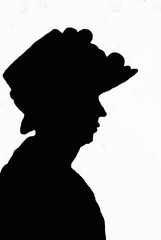 Lady in a Hat - Sillouette
