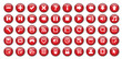 Web Buttons Poster (red)