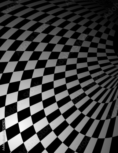 Checker pattern perspective background - vector illustration