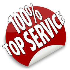 Button 100% Top Service