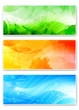 abstract organic banners