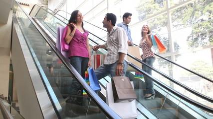 Scalators at a shopping center