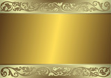 Gentle golden and silvery background (vector) poster
