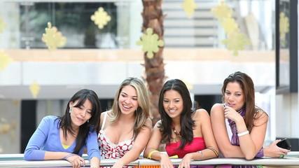 Women on a shopping center