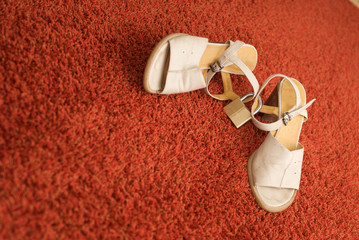 locked sandals