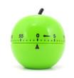 Leinwanddruck Bild - Egg timer green apple