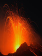 Leinwanddruck Bild - Night of fire at Stromboli