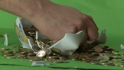 Geld raffen - gierig