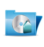 Burn backup icon folder poster