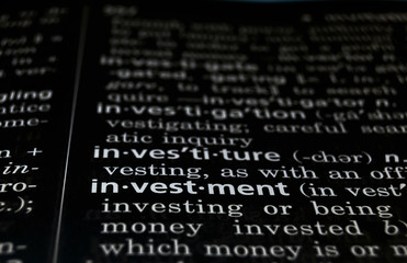 Investment Defined on Black