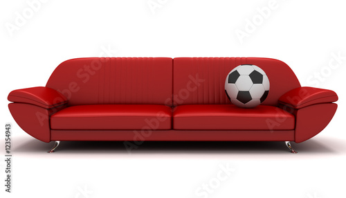 sofa and soccer ball