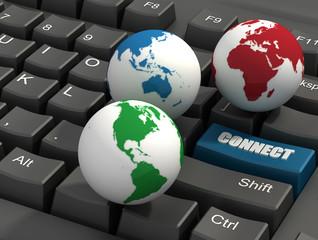 keyboard and Globes