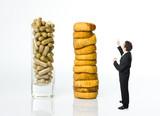 nutrition habitude alimentaire vitamine naturel gelule artificie poster