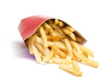 fast food french fries falling from box poster
