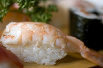 Nighiri di gambero, sushi