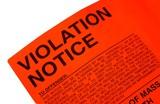 Violation ticket poster