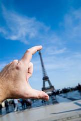 Eiffel tower hand