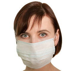 Girl in medical mask
