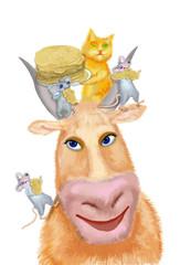 Hospitable cow