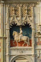 Blois castle, front facade