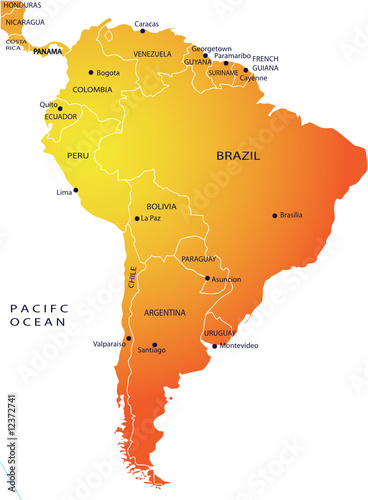 poster of Political map of South America