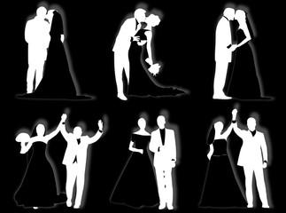 Sposi in silhouette