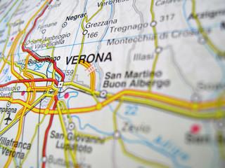 Cartina Verona