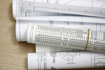 Rolls of engineering drawing