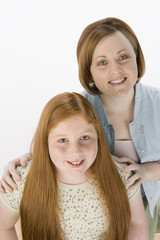 Mother and daughter, portrait