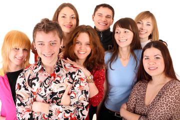 Cheerful group of young people.