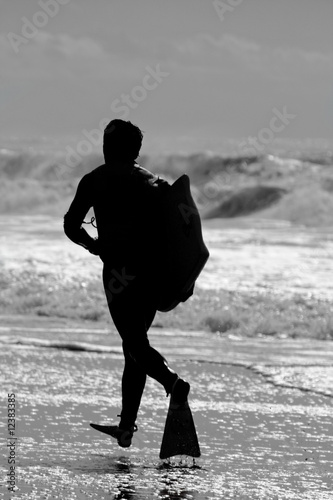Bodyboard surfer