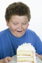 Boy Holding Cake