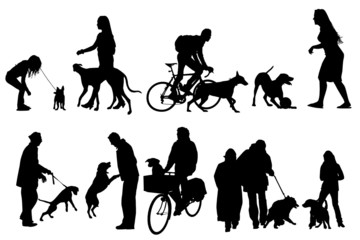 people with their dogs, collection