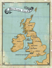 Age-old map British Isles
