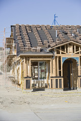 Wooden house construction
