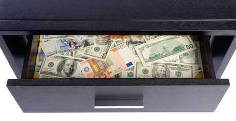 Filing Cabinet Full of Banknotes