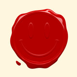 Smiley face wax seal