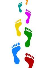 impronte colorate