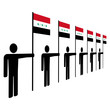men with Iraqi flags