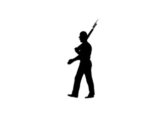 Soldado imperial andando