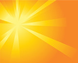 Orange Sun Burst Background