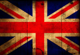 Grunge Great Britain flag poster