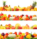 Fototapety splendid vegetable and fruit composition high quality
