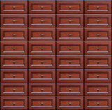Chest of drawers seamless background poster
