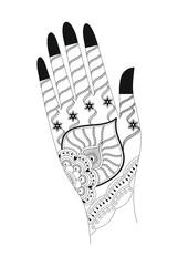 Vector Illustration Henna Tattoo Artwork