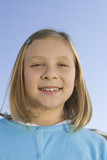 Portrait of pre-teen girl 7-9, smiling