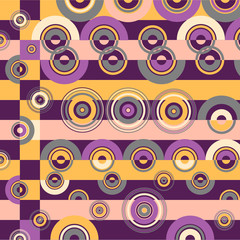 Retro grunge background with concentric circles